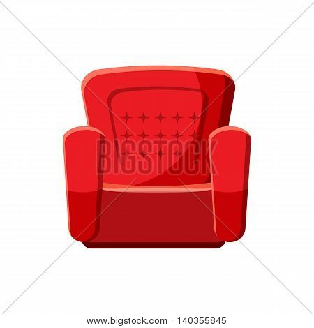 Armchair icon in cartoon style isolated on white background. Furniture symbol