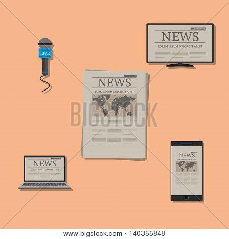 news on variable devices vector illustration concept design