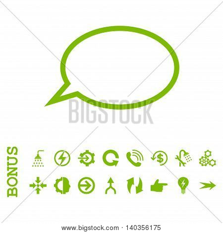 Hint Cloud vector icon. Image style is a flat pictogram symbol, eco green color, white background.