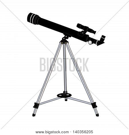 The telescope isolated on white background. Vector illustration.