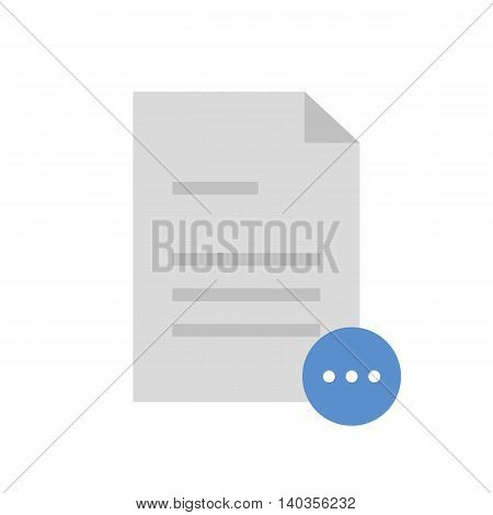 Flat icon loading document. Document for waiting. Vector illustration.