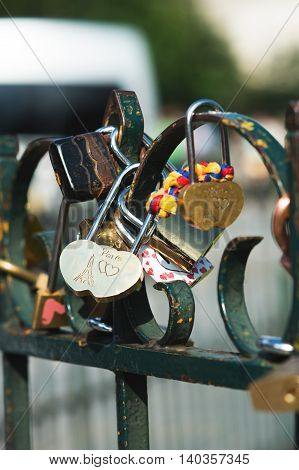 Lock Love of Paris on the fence