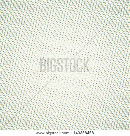 Abstract light background with small dots pattern in green shades