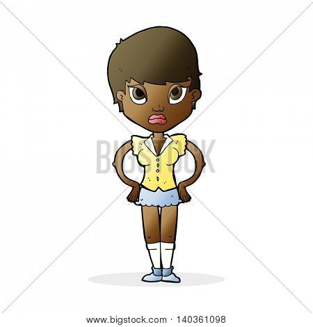 cartoon annoyed girl
