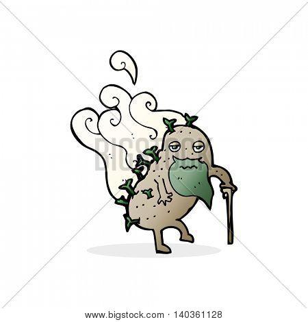 cartoon old potato