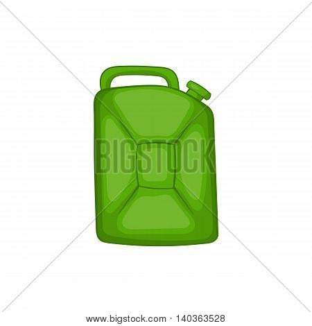 Green fuel canister icon in cartoon style on a white background