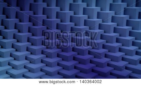 3D rendering of blue cubes background