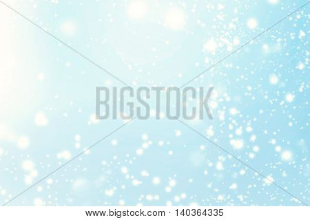 Abstract Christmas Background. Holiday Defocused Background With Snowflakes and Stars beauty blurred bokeh