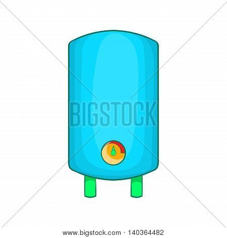 Boiler, water heater icon in cartoon style on a white background