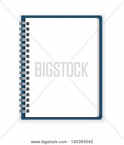 Notebook paper vector on a white background