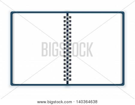 Open spiral notebook vector on white background