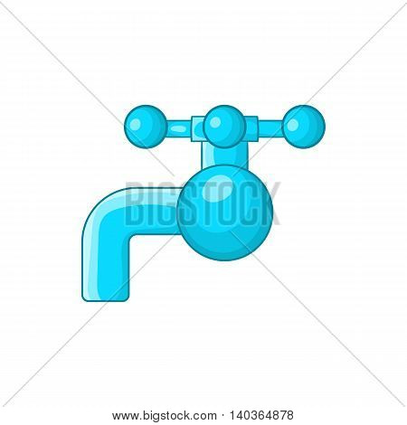 Water tap with knob icon in cartoon style on a white background
