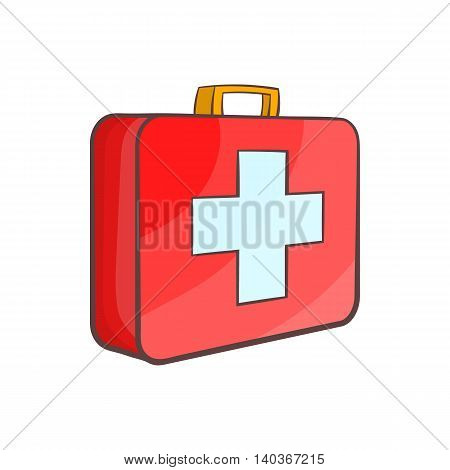 Medicine chest icon in cartoon style on a white background