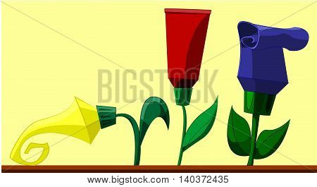 Flowers In The Form Of Creams