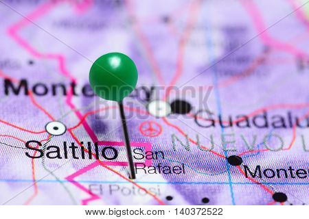 San Rafael pinned on a map of Mexico