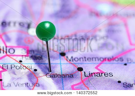 Galeana pinned on a map of Mexico