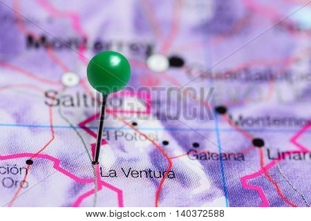 La Ventura pinned on a map of Mexico
