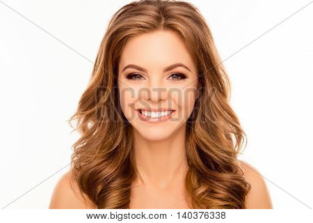 Portrait Of Beautiful Young Woman With Beaming Smile