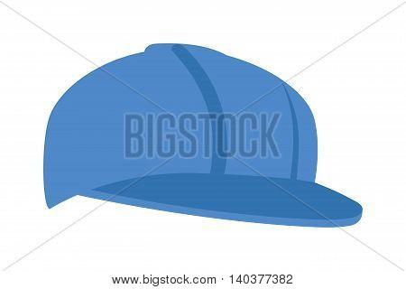 Blue baseball cap isolated on white vector. Sport baseball cap and baseball fashion clothing hat. Teenager baseball cap