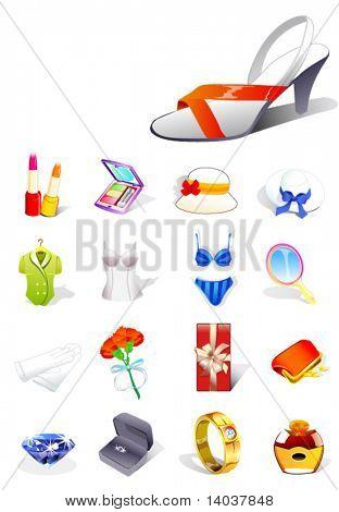 conjunto de ícones de sonho da senhora