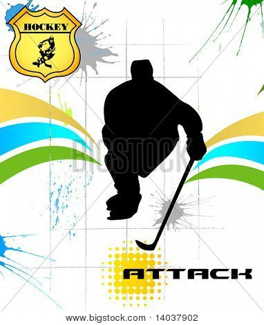 hockey vector poster