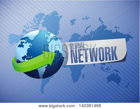 global network sign concept illustration design graphic