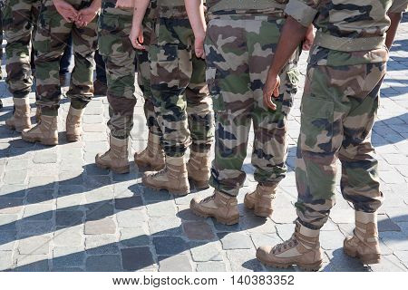Soldiers Of The Armed Forces In The Street