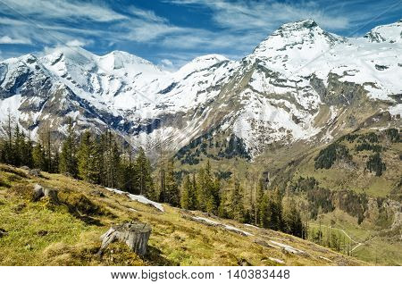 Beautiful View Of Alps Mountains. Spring In National Park Hohe Tauern, Austria.