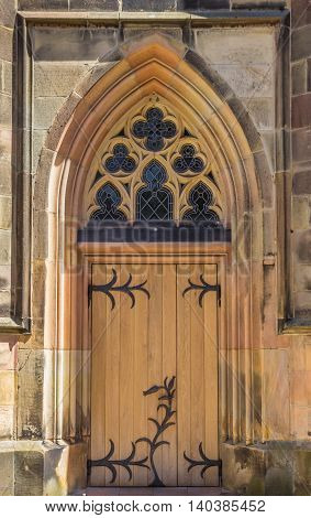 Door of the catholic church in Schuttorf Germany
