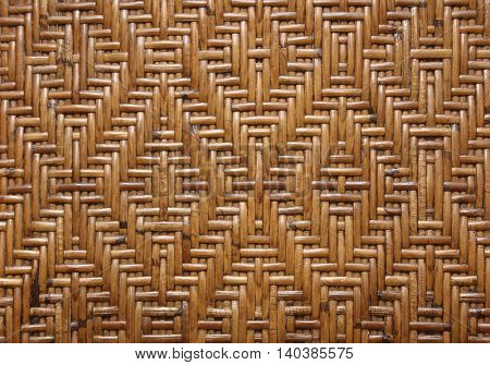 The Weave pattern rattan on background texture