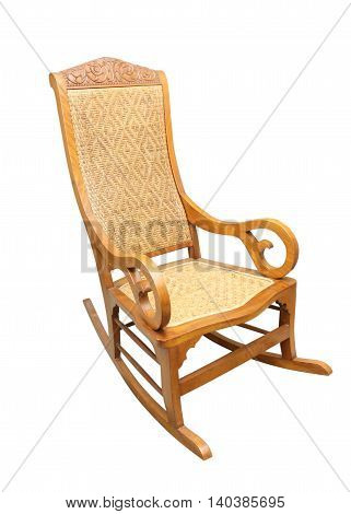 The rocking chair isolated on white background