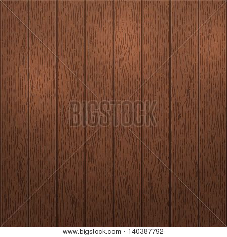 Dark wood texture template with vertical stripes rustic old panels grunge vintage floor. Wooden background. Hardwood vector illustration.
