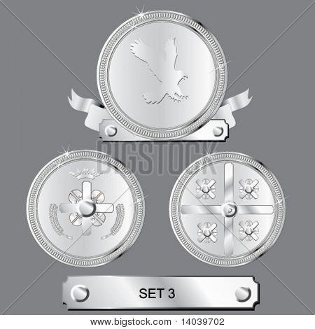 vector awards set - silver