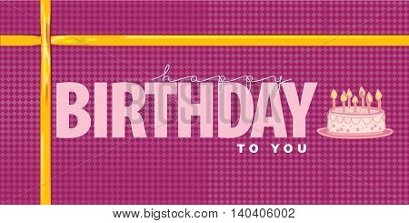 Vector illustrated for design element Present Birthday with Cake on cover card design.
