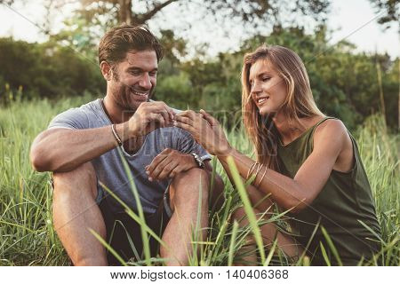 Man Proposing To Girlfriend On Holiday