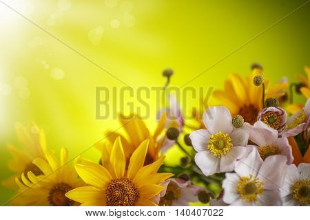 Summer Bouquet Of Yellow Daisies