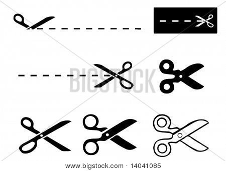set of scissors - template