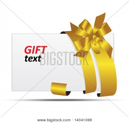 gift tag with ribbons