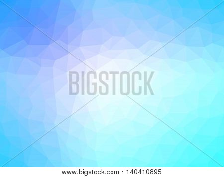 Abstract blue teal gradient polygon shaped background.