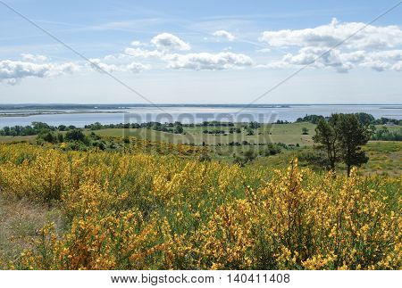 Beautiful landscape on Hiddensee Island in Germany