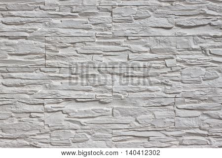 Background of white stone reliefs for creativity.