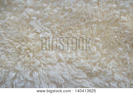 white wool fur fluffy fabric texture background