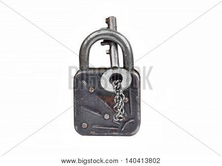 Vintage Rusty Lock And Key