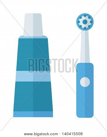 Tooth brush vector illustration. Tooth brush isolated on white background. Tooth brush vector icon illustration. Tooth brush isolated vector. Toothbrush silhouette