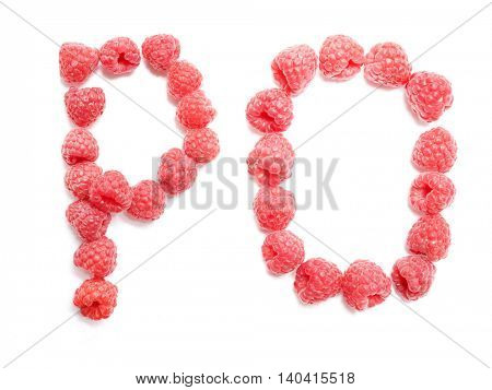 Raspberry font. Alphabet.