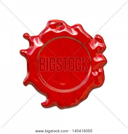2d illustration of a red wax seal