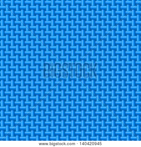 Seamless pattern of blue cloth. Abstract fabric background