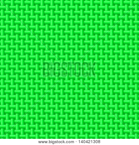 Seamless pattern of green cloth. Abstract fabric background