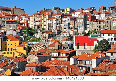 View of Oporto old town in Portugal