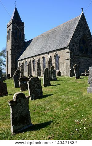 An external view of the church in Port of Menteith
